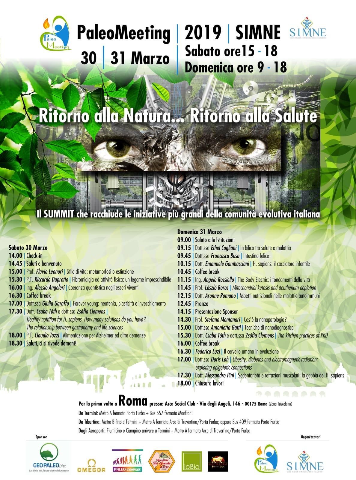 Locandina PaleoMeeting + SIMNE con Programma Provvisorio