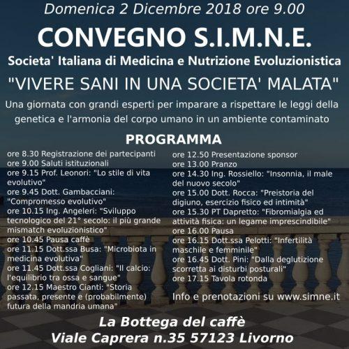 Locandina Convegno SIMNE Livorno